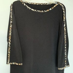 Tops - Leopard Trimmed Tunic